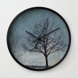 Winter Sentinel Wall Clock