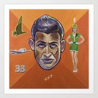 pilot Art Prints featuring Pilot by Terry Luc