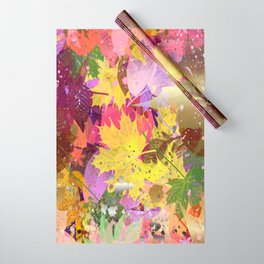 Bright Leaves Wrapping Paper
