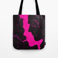fight Tote Bags featuring fight by Total Lost