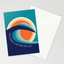 Surf a left Stationery Cards