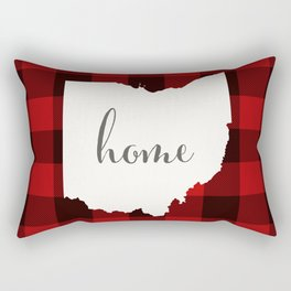 Ohio is Home - Buffalo Check Plaid Rectangular Pillow