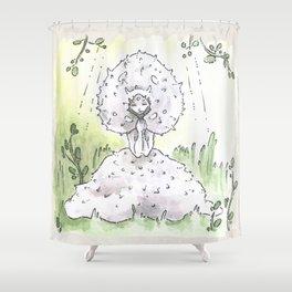 Empire of Mushrooms: Lycoperdon perlatum Shower Curtain