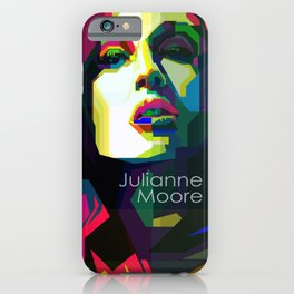 Julianne Moore Pop Art WPAP  iPhone Case