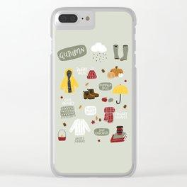 Autumn Essentials Clear iPhone Case