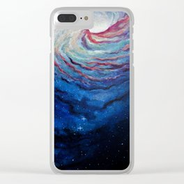 Rainbow Galaxy Clear iPhone Case