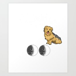 I Love My Yorkshire Terrier To The Moon Art Print