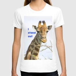 Giraffe - head and neck only with text T-shirt