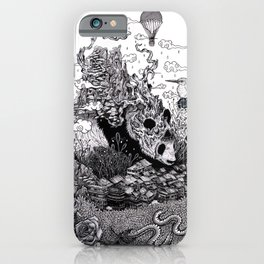 Land of the Sleeping Giant (ink drawing) iPhone Case