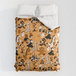 Monster March (Orange) Comforters