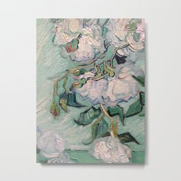 Van Gogh - White roses close up Metal Print