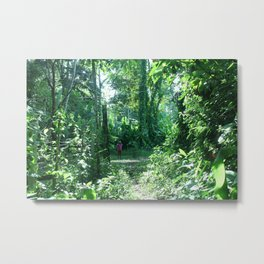 Her Forest Home Metal Print