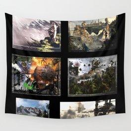 3D Fantasy multi  Wall Tapestry