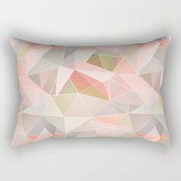 Broken glass in warm colors. Rectangular Pillow