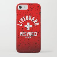 grand theft auto iPhone & iPod Cases featuring Los Santos Vespucci Beach Lifeguard Grand Theft Auto by KeenaKorn