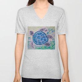 Sea Turtle Geodes Unisex V-Neck