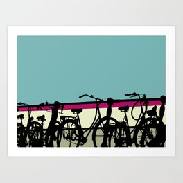 On your bike (Blue) Art Print