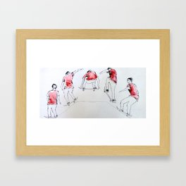 Going Through The Motions Framed Art Print