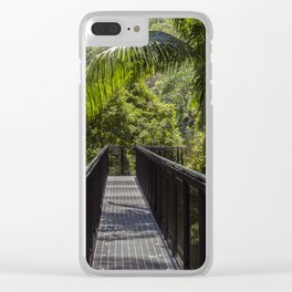 Tree Tops Walkway Clear iPhone Case