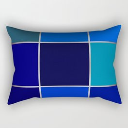 Cobalt , patchwork Rectangular Pillow