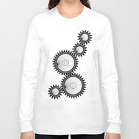 gears of war Long Sleeve T-shirts featuring gears by Great Siberia Studio