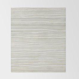 Rake Watercolor in Cream Throw Blanket