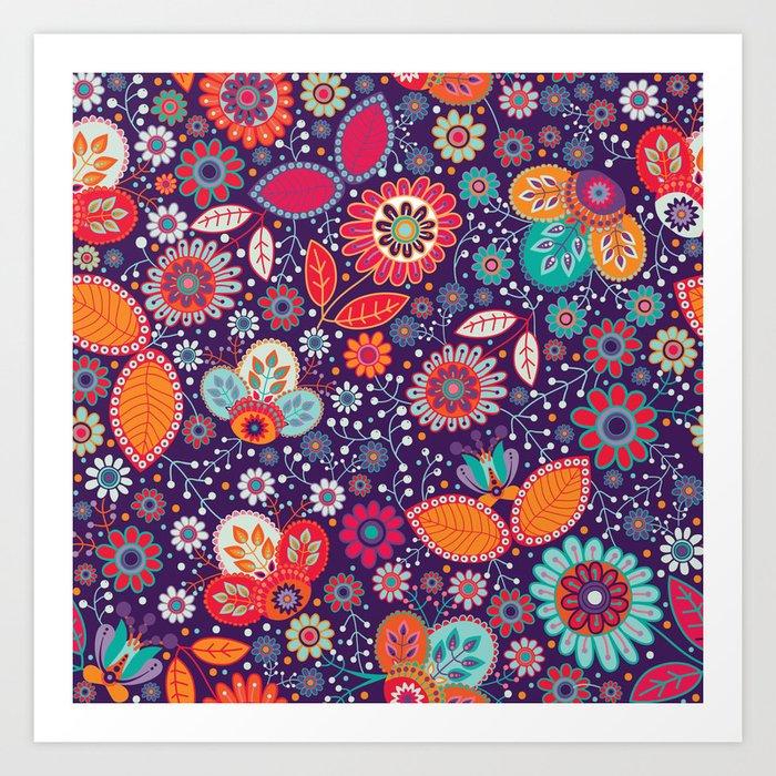 Shabby flowers #29 Art Print