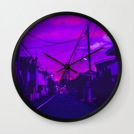 Tokyo Anime Skies Wall Clock