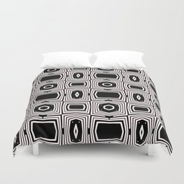 Black and White Pattern by Saribelle Rodriguez Duvet Cover