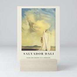 Poster-Salvador Dali- Figure And Drapery In A Landscape. Mini Art Print
