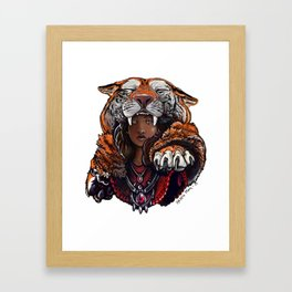 Tiger Lady Framed Art Print