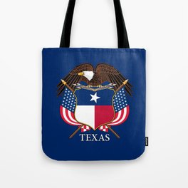 Texas flag and eagle crest concept Tote Bag