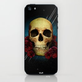 Skull and Roses iPhone Skin