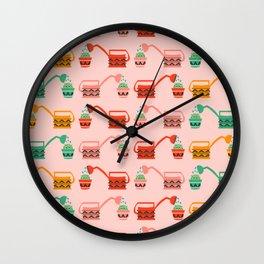 Cacti watering Wall Clock