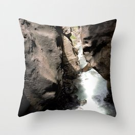 Looking Out toward Ouray from Box Canyon Falls Throw Pillow