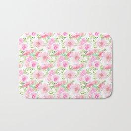 Blush Pink Florals Bath Mat
