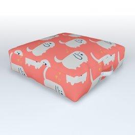Cute Wiener dog Coral Outdoor Floor Cushion