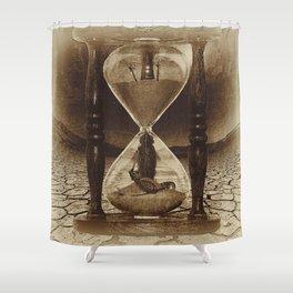 Sands of Time ... Memento Mori - Sepia Shower Curtain