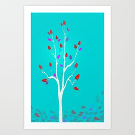 Falling - Autumn Art Print