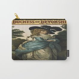 Vintage poster - Duchess of Devonshire Carry-All Pouch