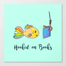 Hooked on Books - Mint Canvas Print