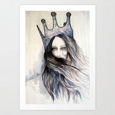 Snow Storm // Fashion Illustration Art Print