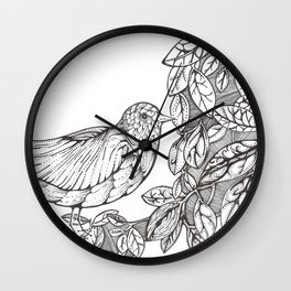 Tree Bird Wall Clock