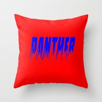 panther Throw Pillows featuring Panther by Brian Raggatt