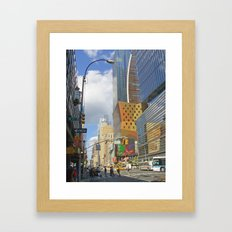 Enter Section Framed Art Print