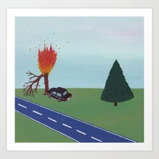 Burning Tree Art Print