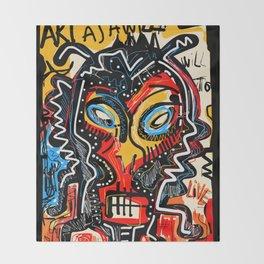 Art as a will to live Graffiti Street Art Throw Blanket