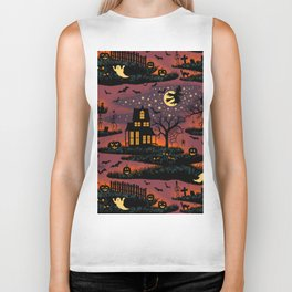 Halloween Night - Bonfire Glow Biker Tank