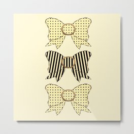 Vintage Bows Part 5 Metal Print