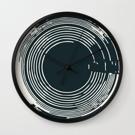 In Circles Like Records Wall Clock